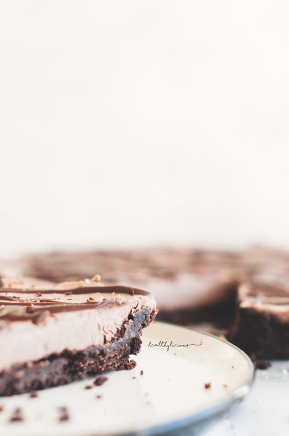 Сурова торта с блат от ядки и шоколад