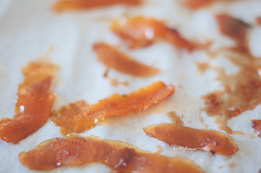 Домашно карамелизирани портокалови кори