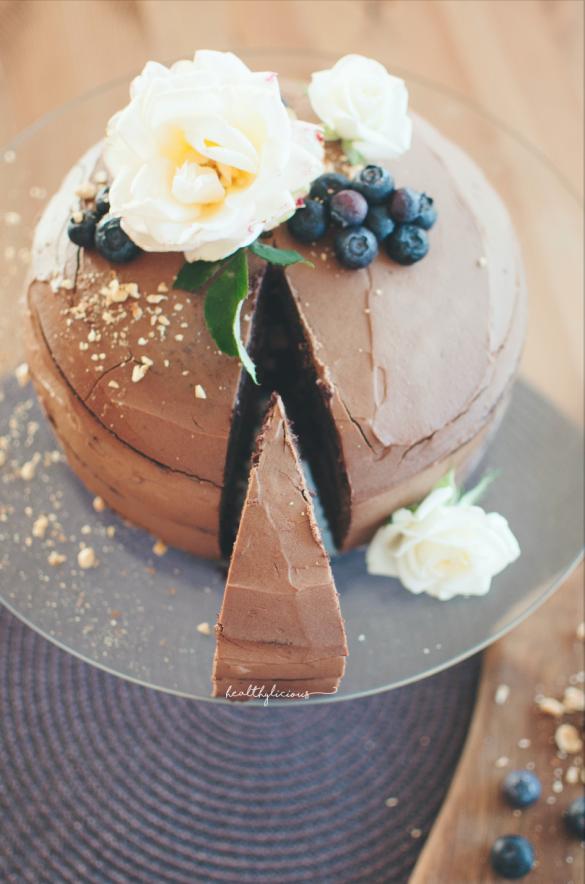 Шоколадова торта с декорация