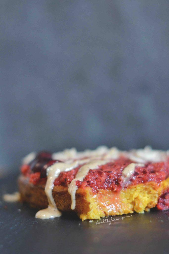 Кексче с червени боровинки