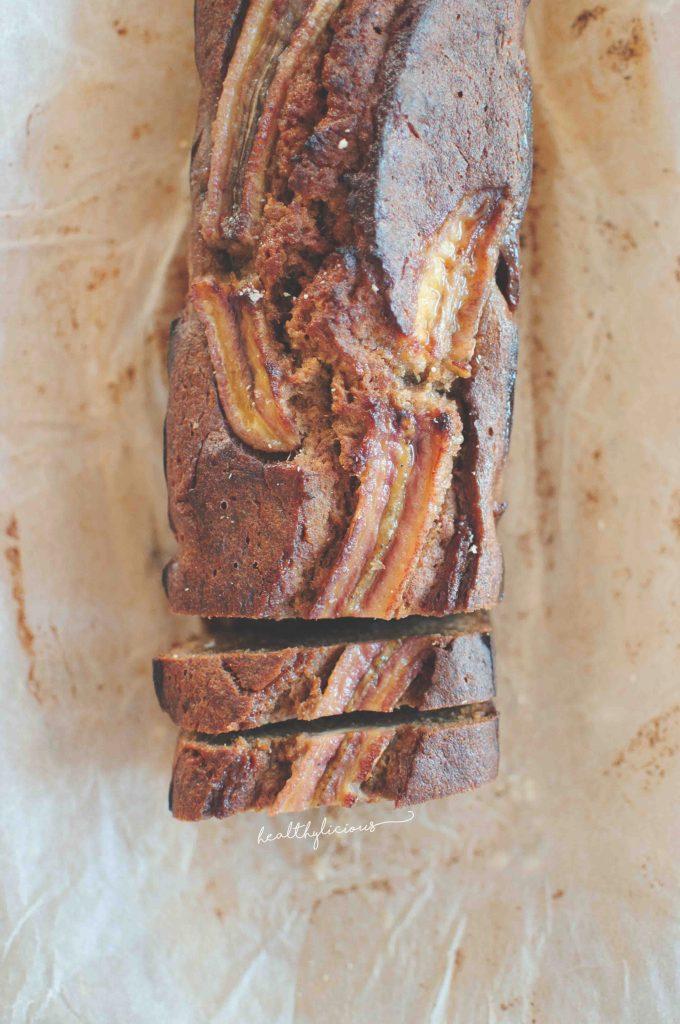 Здравословен бананов хляб с карамел