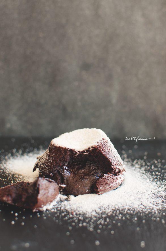 Суфле с течен център от шоколад