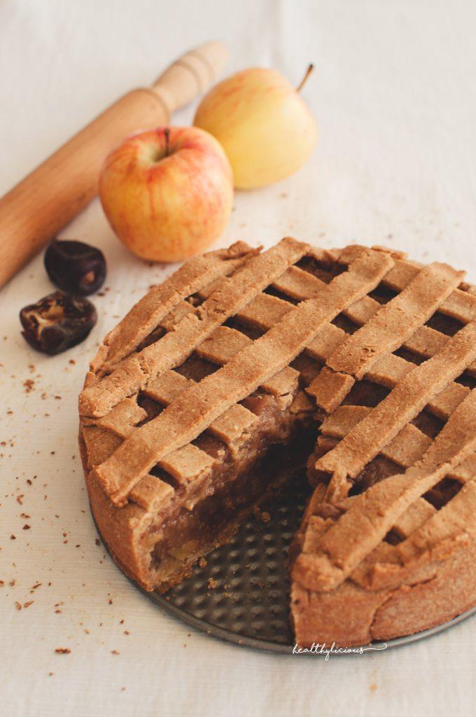 Здравословен ябълков пай