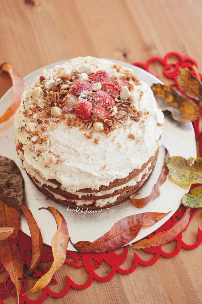 Торта с ванилов маскарпоне крем