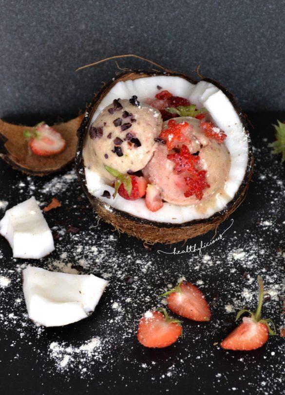 Бананов сладолед в кокосов йогурт