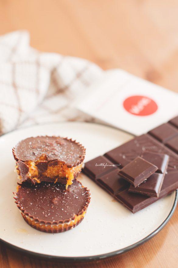 Сурови шоколадови хапки с тиква отвътре и шоколад Verve