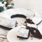 Веган шоколадов коледен кекс