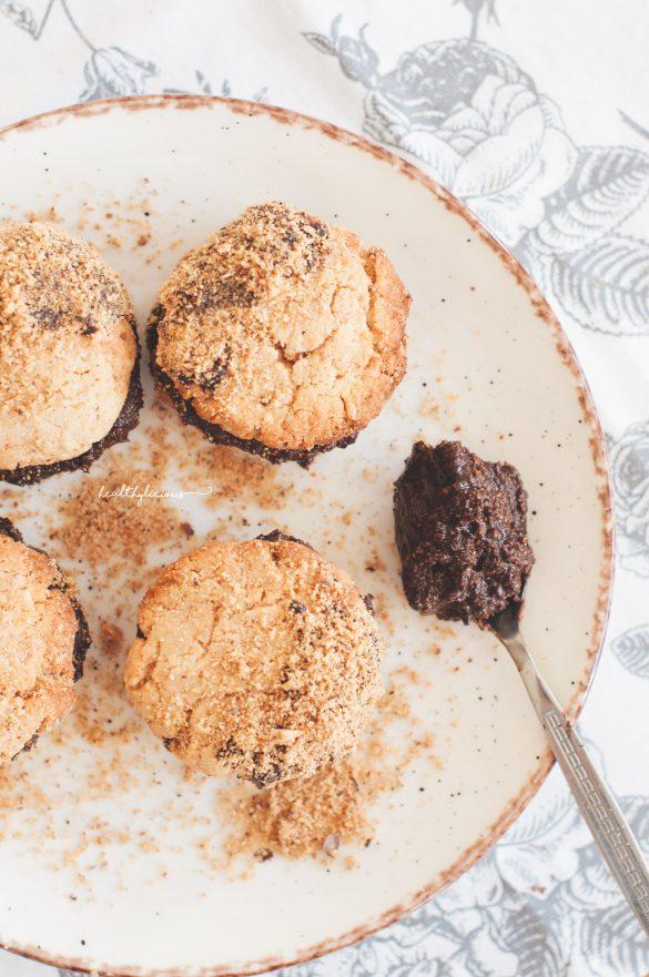 Здравословни бисквити с лешников шоколад без захар