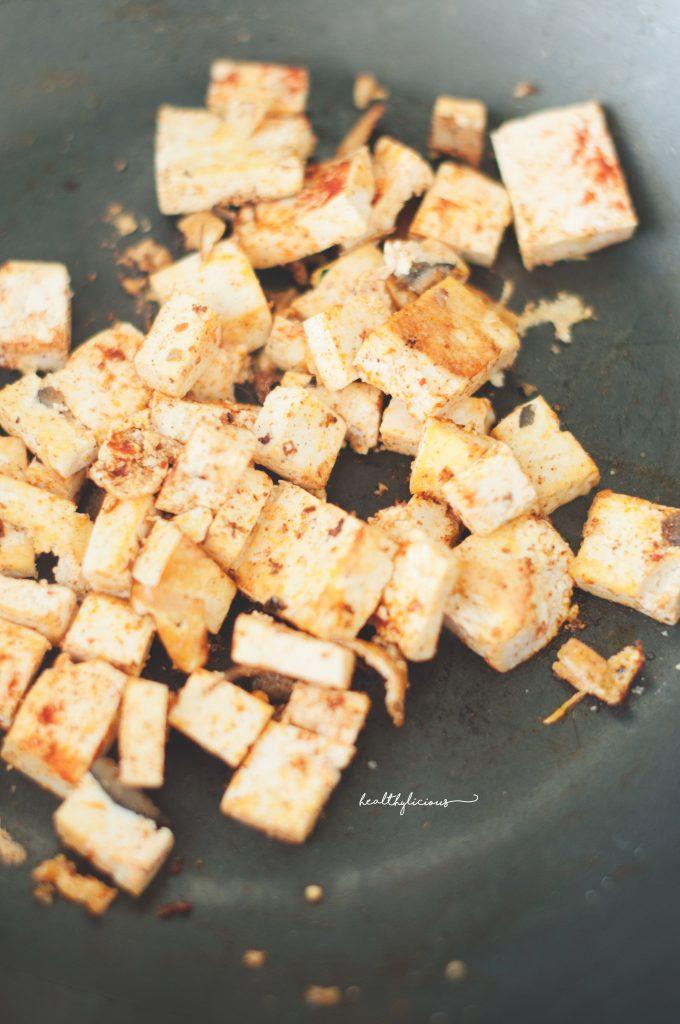 Тофу с пушен пипер