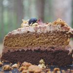 Омбре торта с ванилов и шоколадов крем