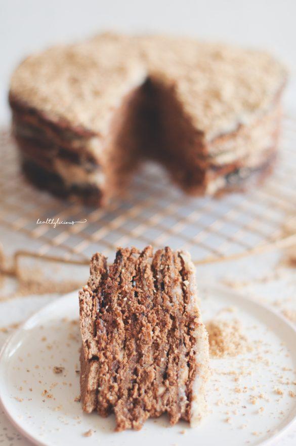 Торта с мед и орехи