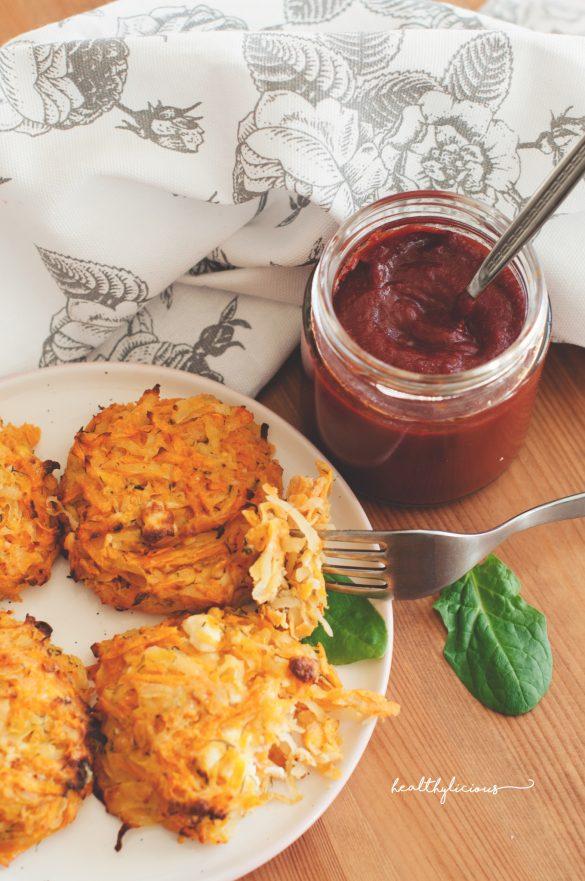 Картофени рьощи с домашен кетчуп