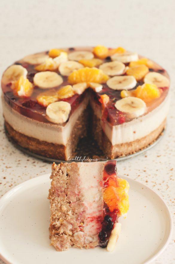 Плодова желирана торта