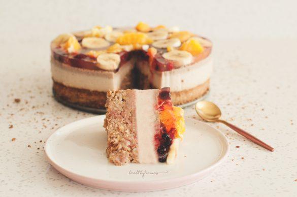 Безглутенова веган торта с плодове