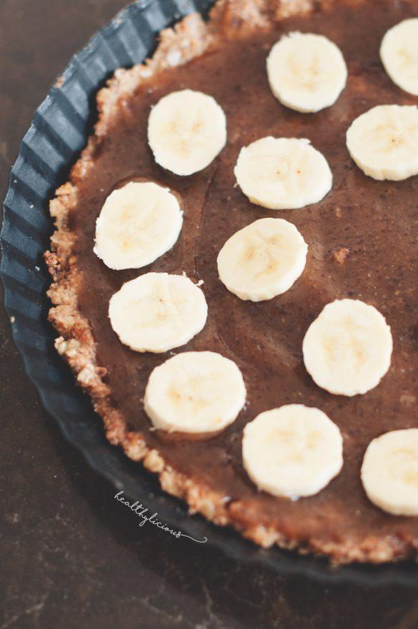 банофи пай карамел и банан