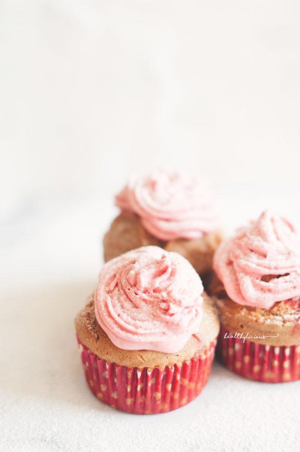 Розови мъфини за Св. Валентин