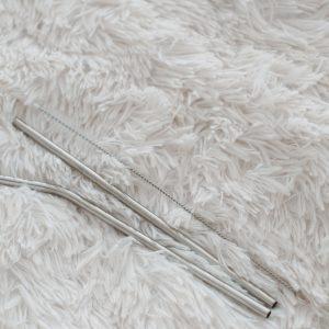Метални сламки с четчица за почистване
