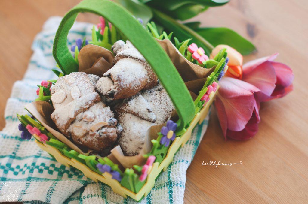 Великденски здравословни кифлички с цветя