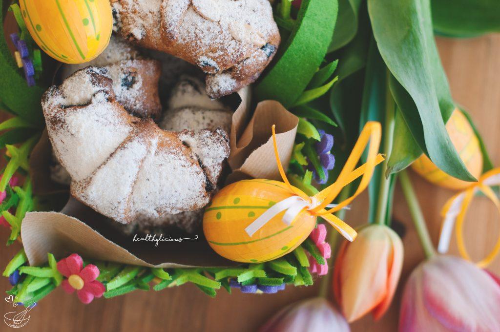 Великденски здравословни кифлички