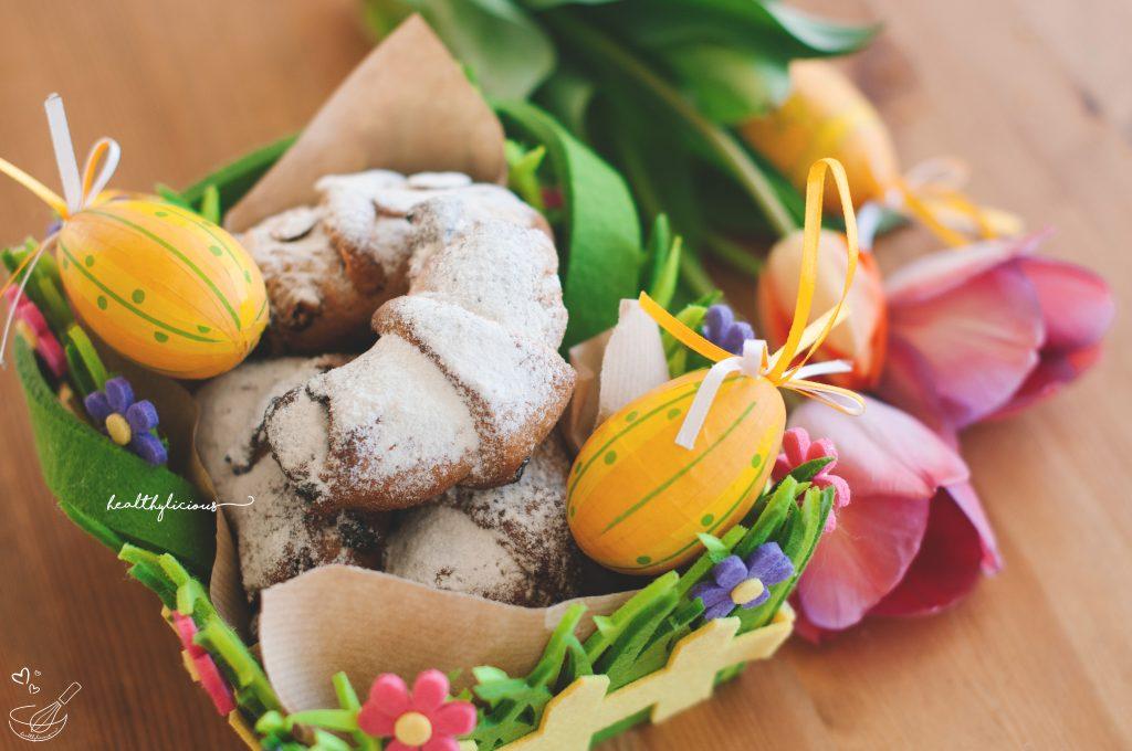 Великденски здравословни кифлички с декорация