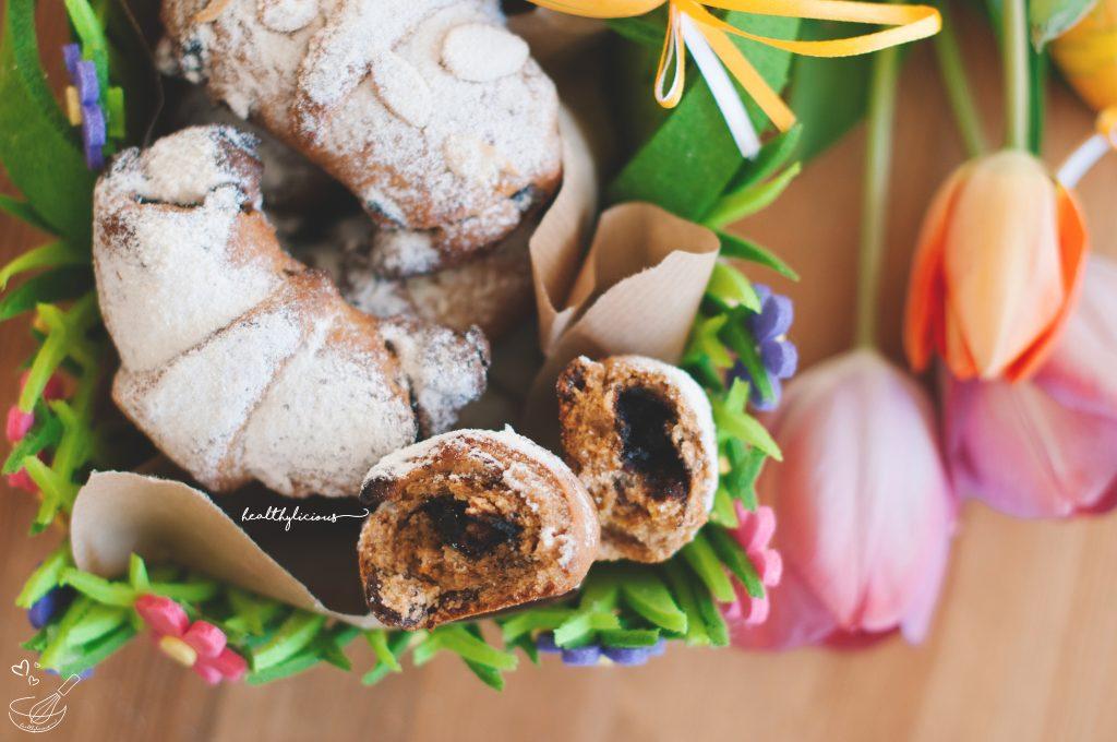 Великденски здравословни кифлички с мармалад
