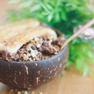 Кокосова купа с шоколадови овесени ядки