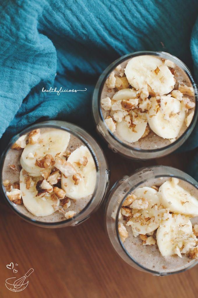 Бананов мус с кашу и орехи