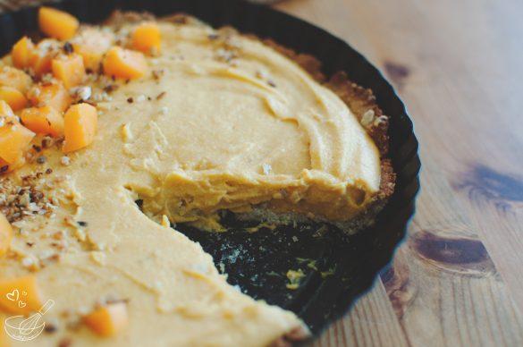 Веган безгутенов тарт със сладък картоф